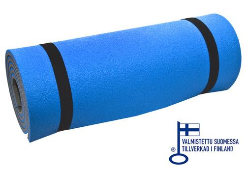 50 x 190 cm / 12 mm laminerat liggunderlag blått / grått